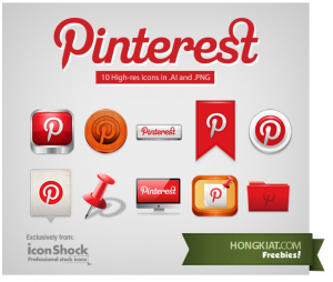 Free Pinterest Icons & graphics for immediate download...
