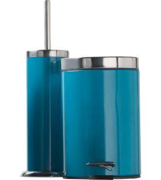 Colour Match Bathroom Bin And Brush Set Lagoon At Argos Co Uk Toilet Brush Bathroom Bin Bathroom Accessories