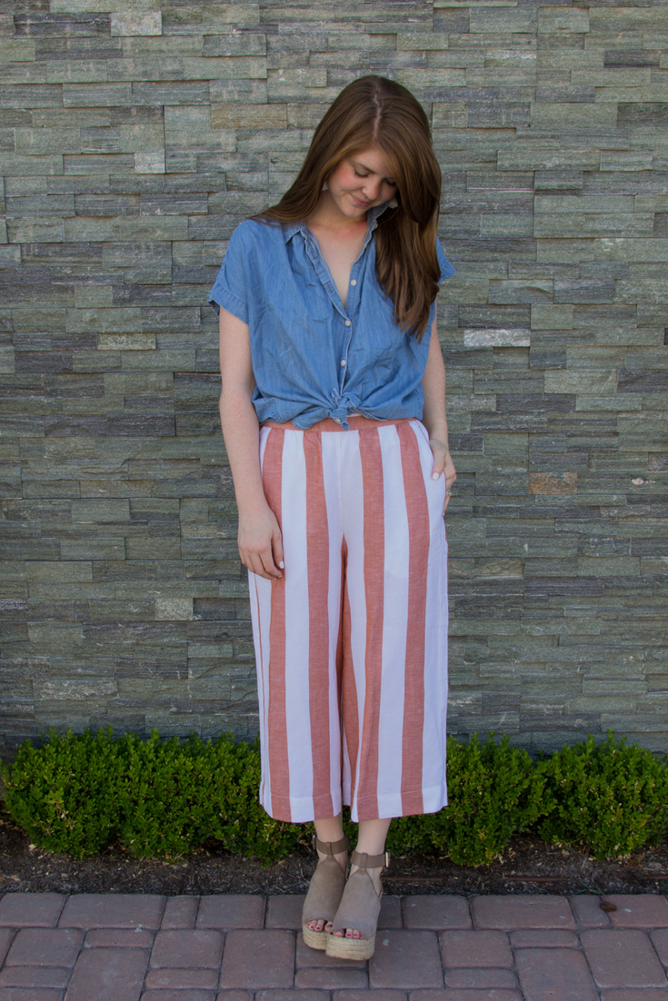 a6667fe11a madewell huston pull-on pants in evelyn stripe