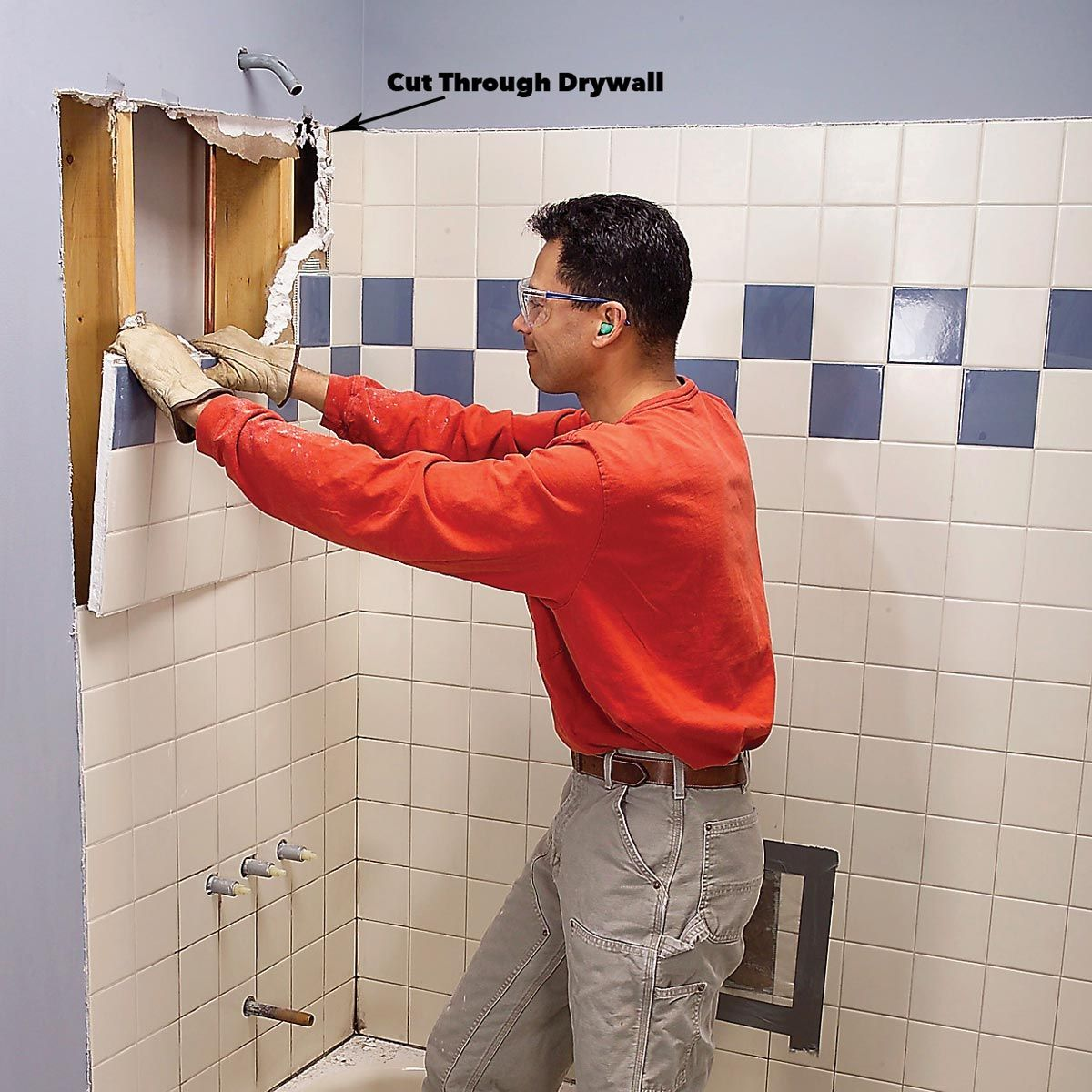 How To Fit A Shower Tray Shower Fittings Shower Plumbing