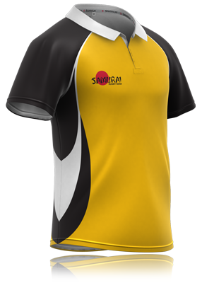 Black And Yellow Rugby Jersey Design From Www Samurai Sports Com