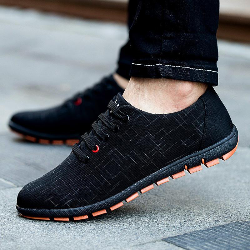 New Spring/Summer Men Shoes Plus Size Casual Shoes Men Canvas Shoes  Breathable Low Shoe laces Flats Zapatillas Hombre 45,46,47