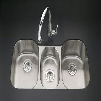 Kohler Undertone 42 X 20 X 10 Triple Basin Undermount Kitchen