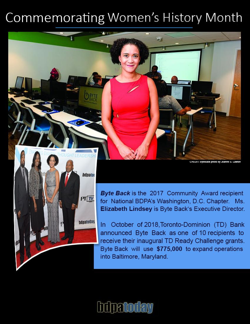 Elizabeth Lindsay ByteBack Womens history month