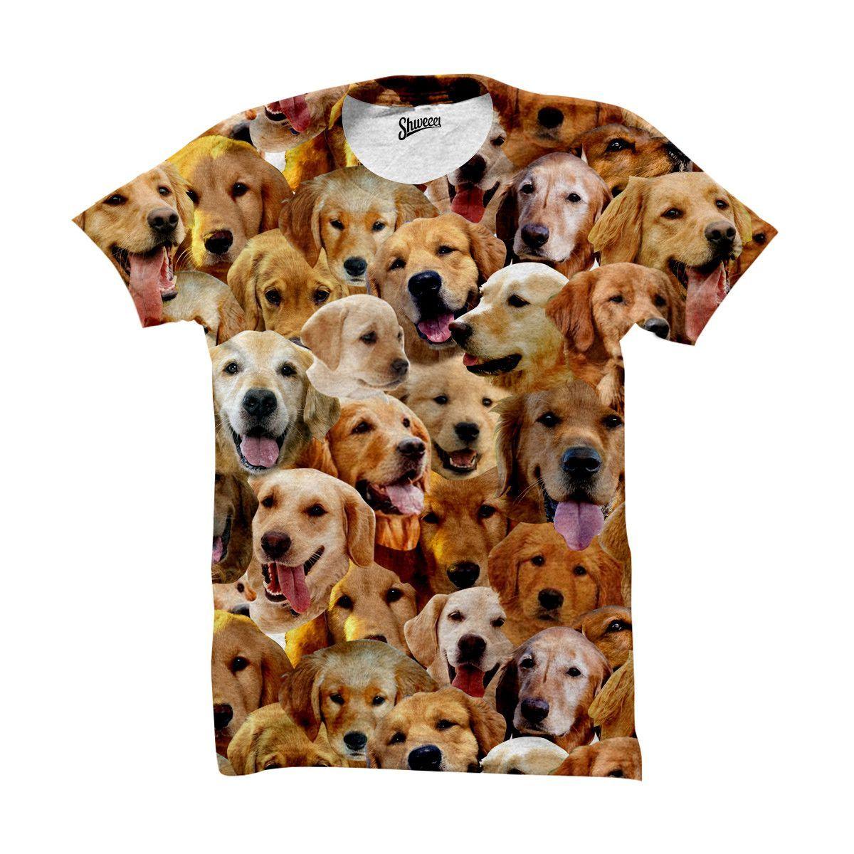 Golden Retriever Faces Shirt Puppy Breeds Golden Retriever
