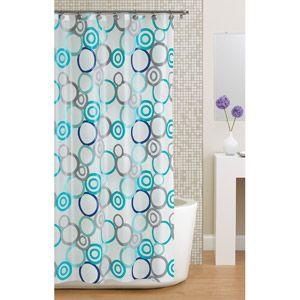 WM Hometrends Circles PEVA Shower Curtain