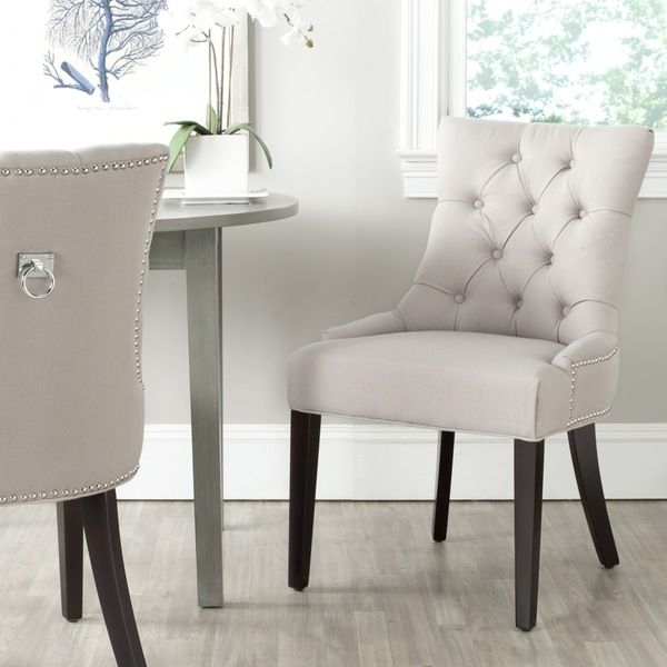 Safavieh Harlow Taupe Ring Chair Set Of 2 MCR4716A SET2 White