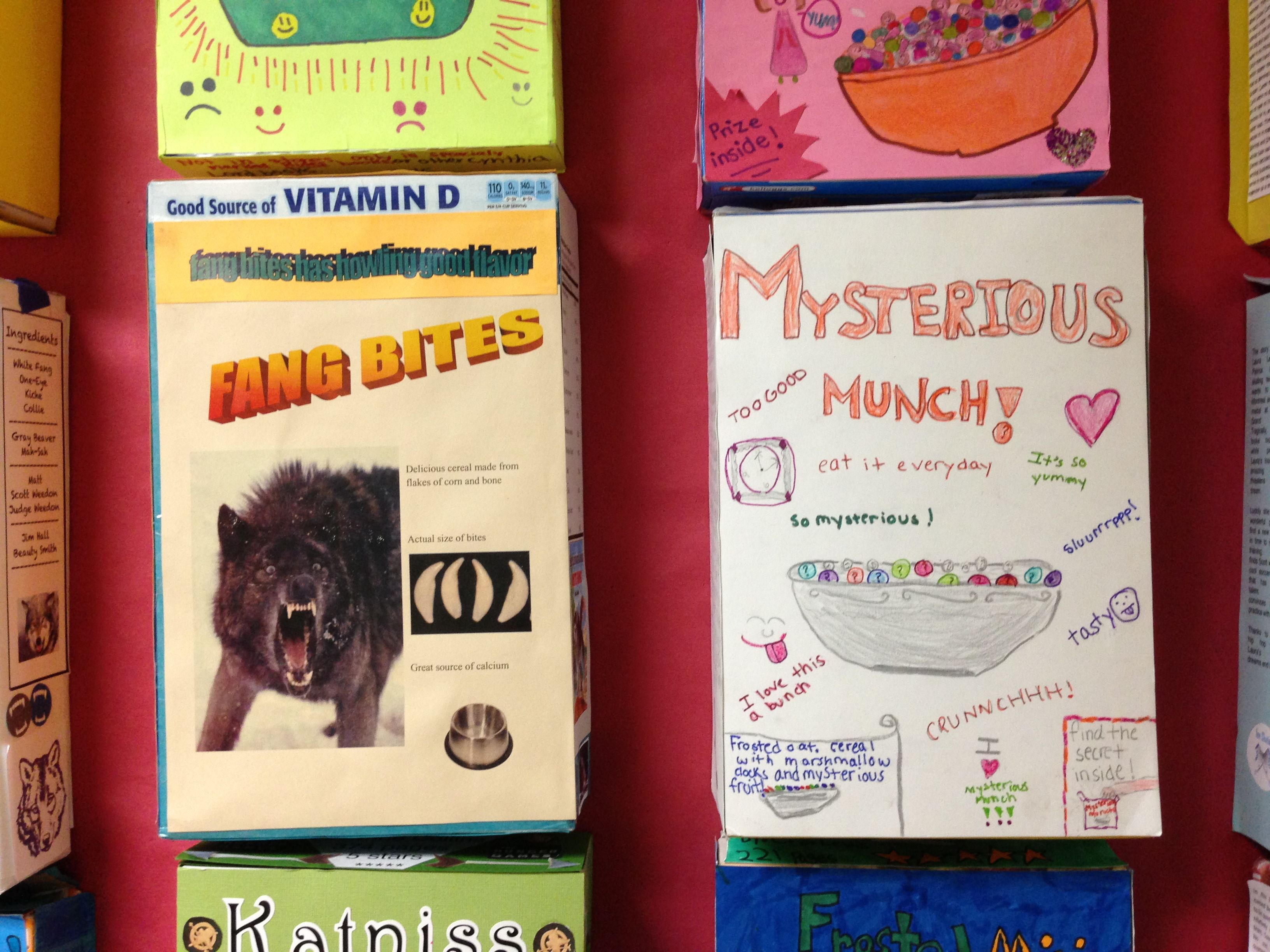 cereal box mystery book report