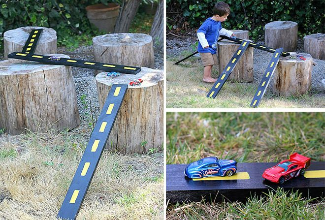 Buggy  Buddy How to make a backyard racing track play
