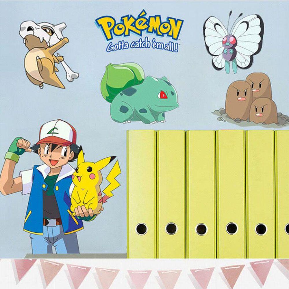 Kids bedroom 3d pokemon wall stikers DIY baby room wall decals ...