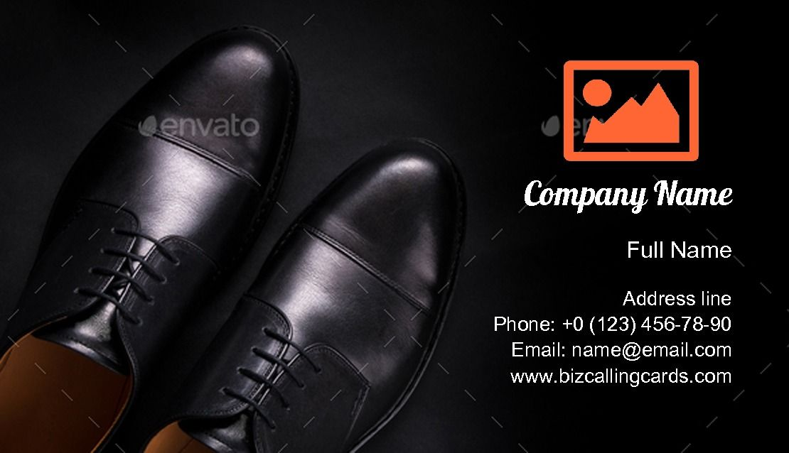 Black Oxford Shoes Business Card Template Black Oxford Shoes Oxford Shoes Fashion Business Cards
