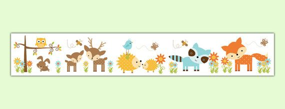 Woodland Nursery Decal Wallpaper Border Forest By