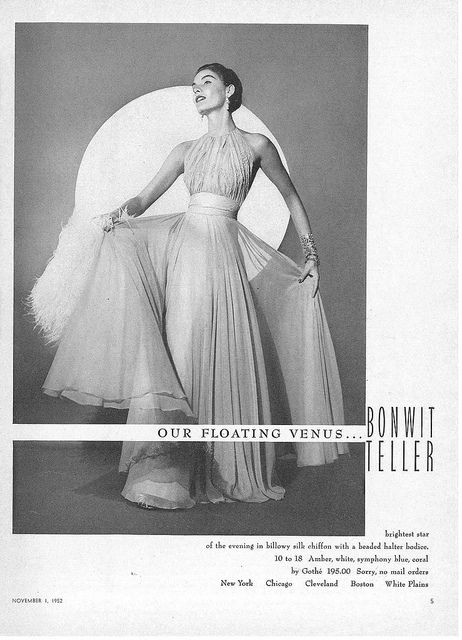 Bonwit Teller ad, Vogue 1952