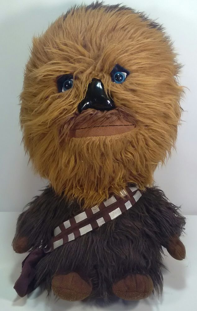 "Star Wars The Force Awakens Brown Plush Talking Chewbacca 15"" Wookie 