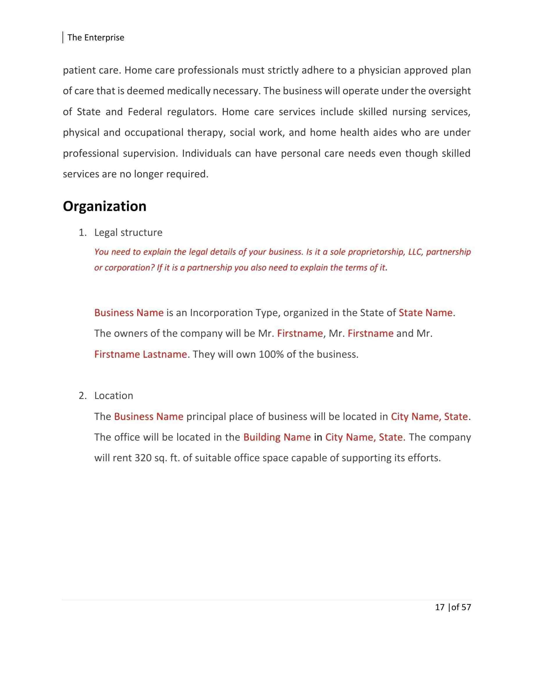 New Sole Proprietorship Business Plan Template
