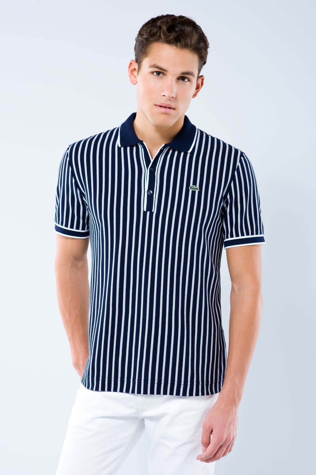Vertical striped polo by Lacoste  997264367bd86