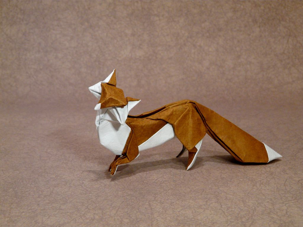 How To Make An Origami Fox Puppet (With images) | Origami guide ... | 768x1024