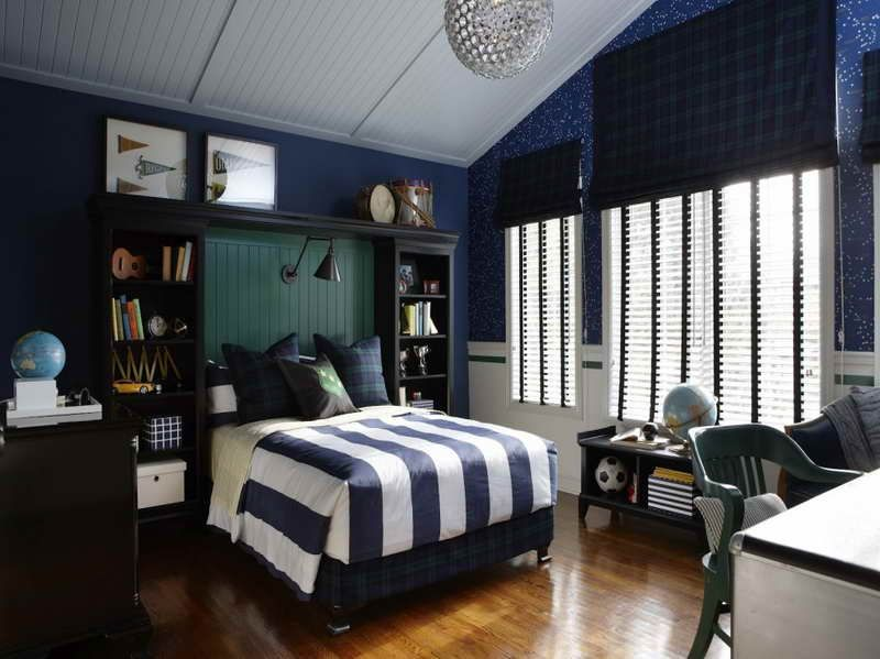 Special Design Of The Dark Blue Bedroom Ideas Special Design Of The