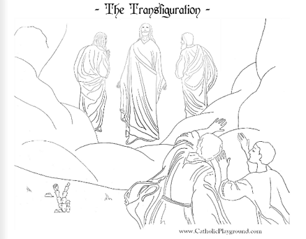 Feast of the Transfiguration coloring page: August 6th