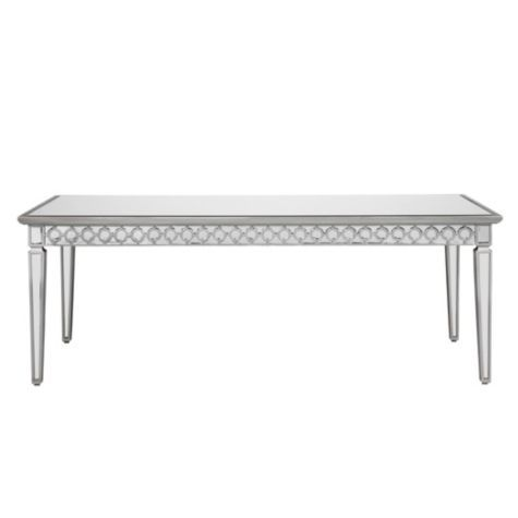 Sophie Mirrored Dining Table Large desk Dining room table and Room