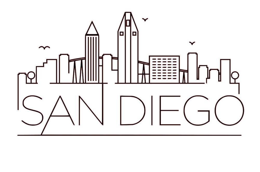 Svg Gsp Files Unique Linear Skyline Of San Diego California Etsy In 2021 San Diego Tattoo San Diego Skyline Skyline Artwork