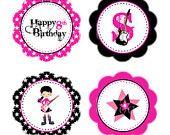 PRINTABLE Boy or Girl Rock Star Party Invitation - 2 choices. $12.00, via Etsy.