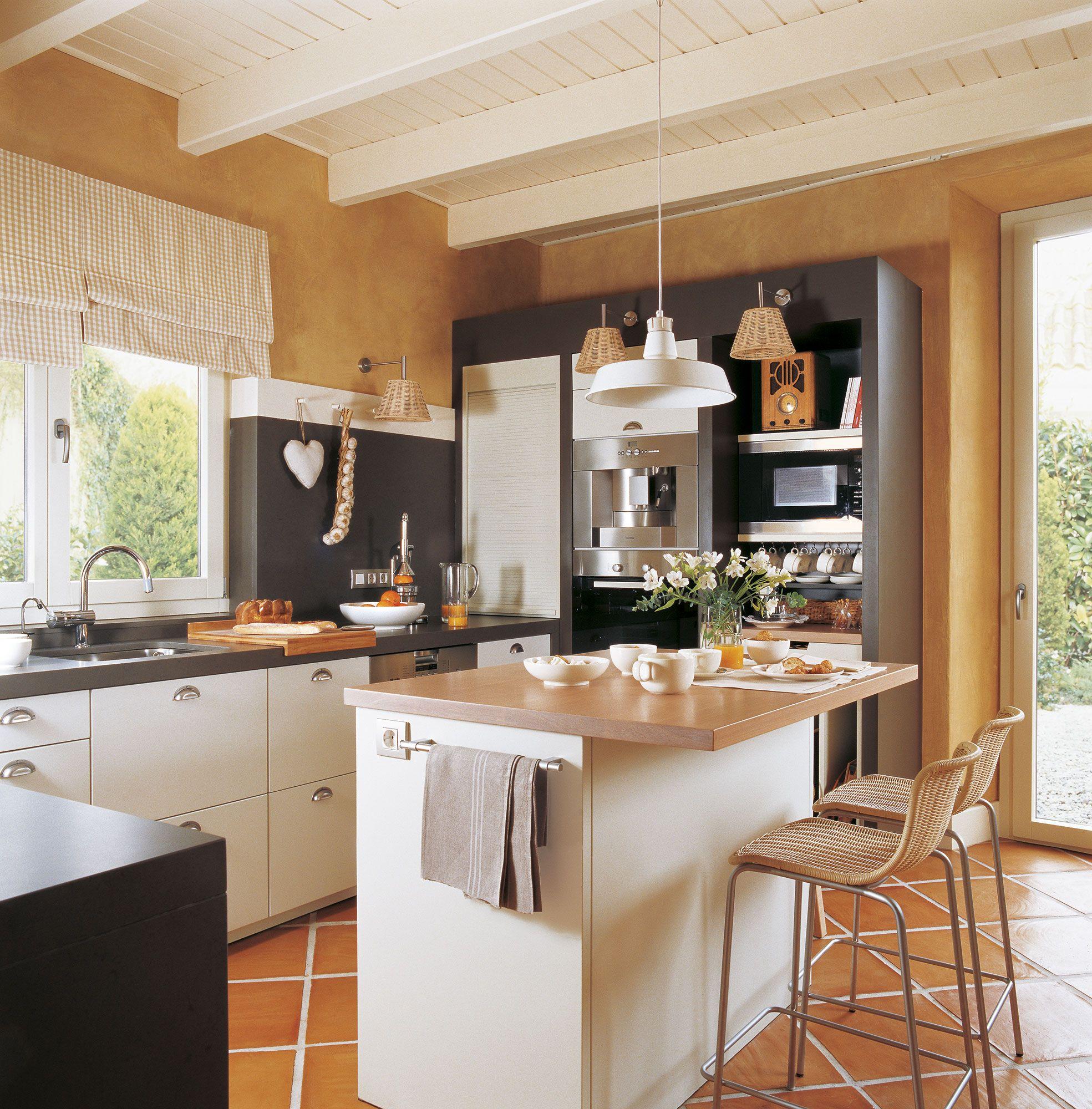 Desayuno, comida o cena en la cocina | Cocinas con barra, Desayuno y ...