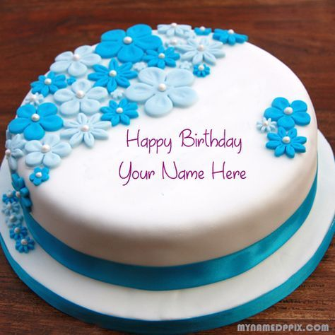 Beautiful Flowers Birthday Cake With Name Image Write My Name