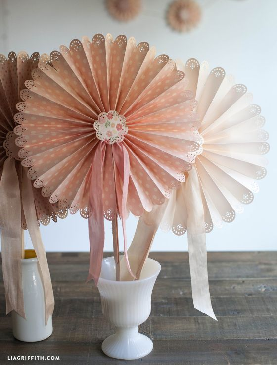 Diy Fans For Your Wedding Or Summer Event