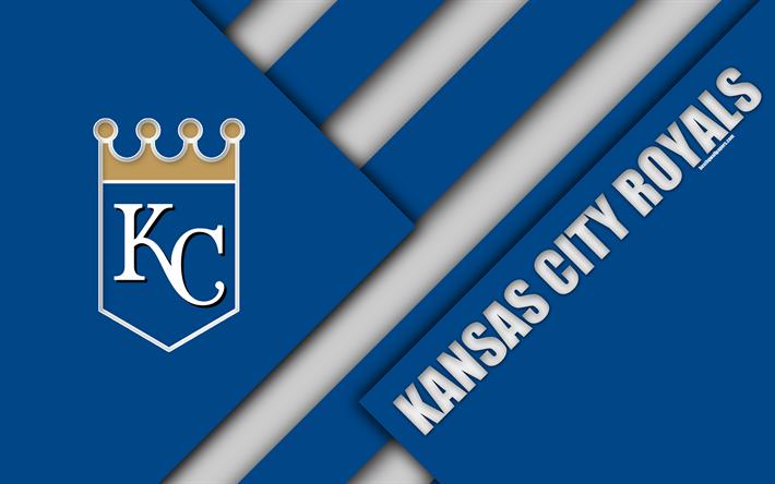 Download Wallpapers Kansas City Royals Mlb 4k Blue Abstraction Logo Material Design Baseball Kansas City Missouri Usa Major League Baseball Besthqwall Kansas City Kansas City Royals Kansas