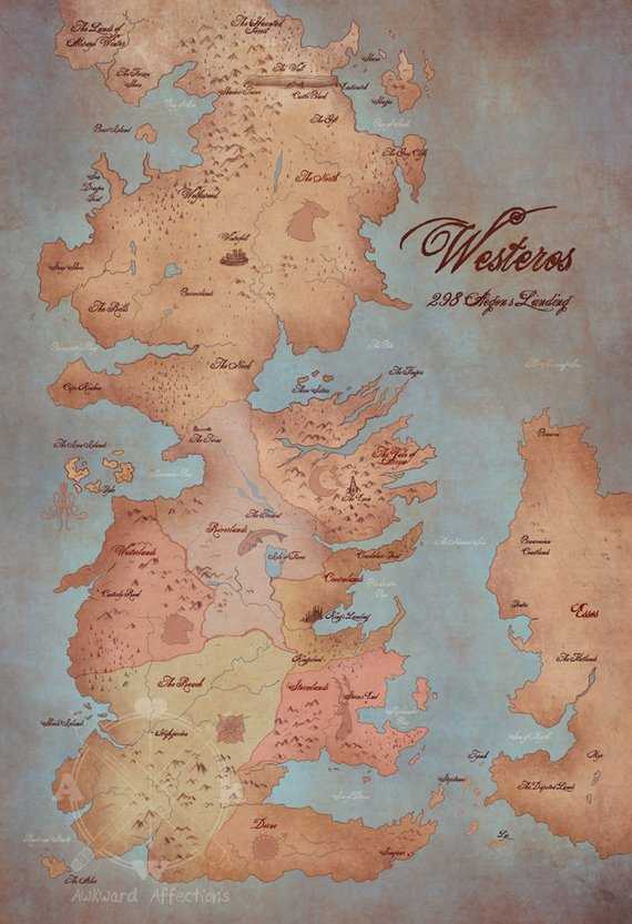 image regarding Free Printable Map of Westeros called Pin upon Solutions