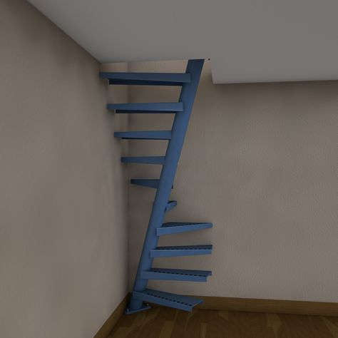 Best 3D Model Of Real Floating Spiral Staircase 3D Model 400 x 300