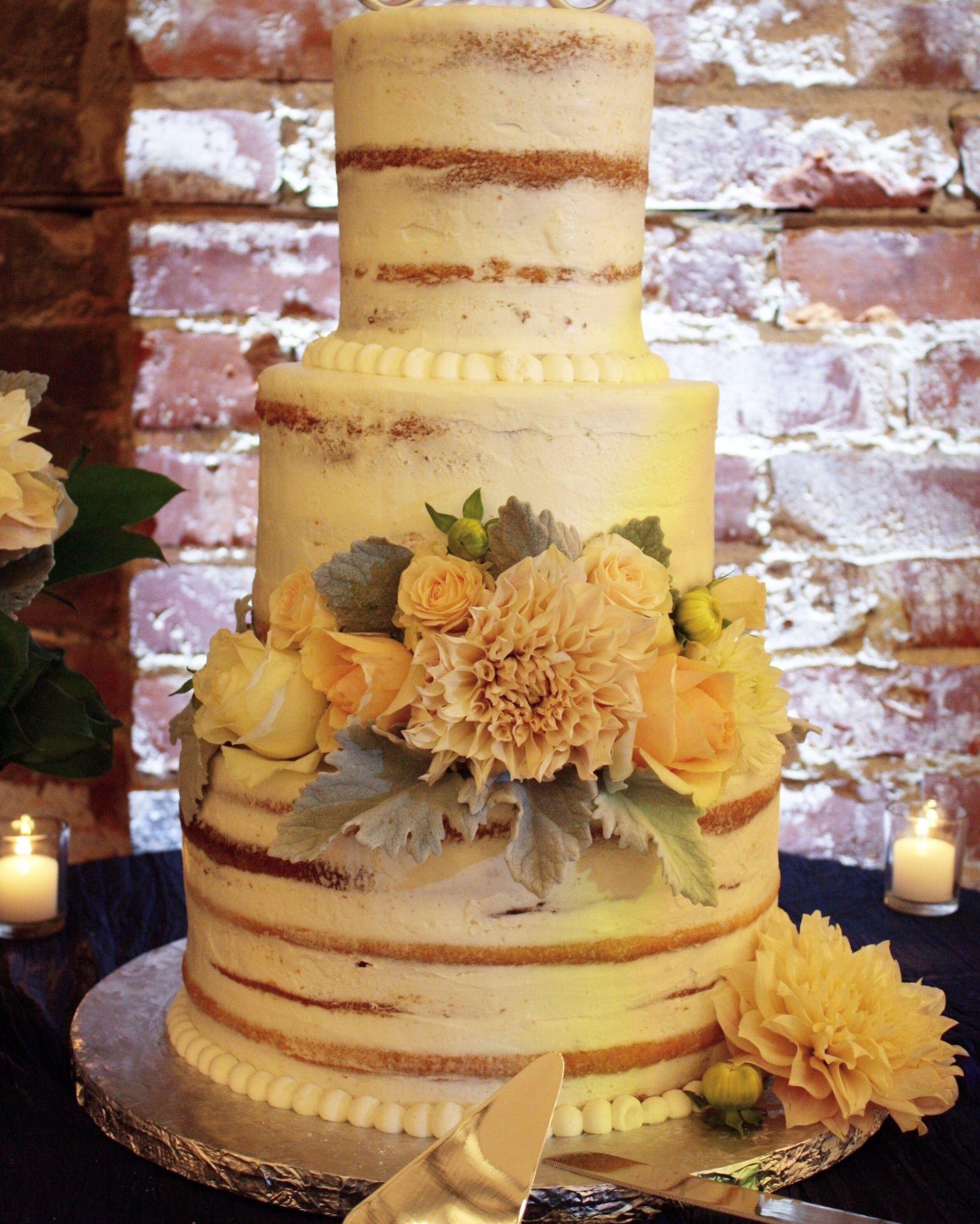 Naked Cake   Flower Cake   Brick   Candles   Cake made by Creative ...