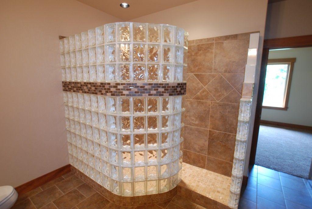 Dsc 0086 Glass Block Shower Bathroom Shower Design Doorless Shower