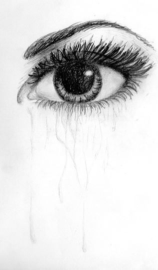 Black and white eye drawing-8002
