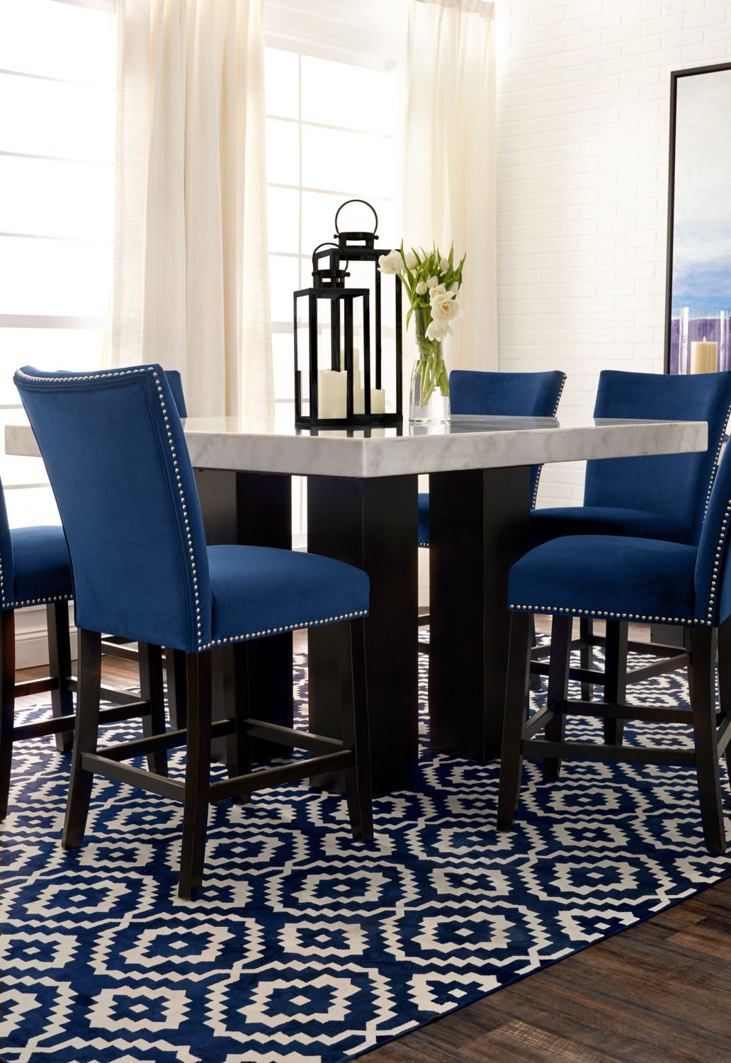 Artemis Counter Height Dining Table Marble Value City Furniture And Mattresses Interior Design Dining Room Dining Table Marble Value City Furniture