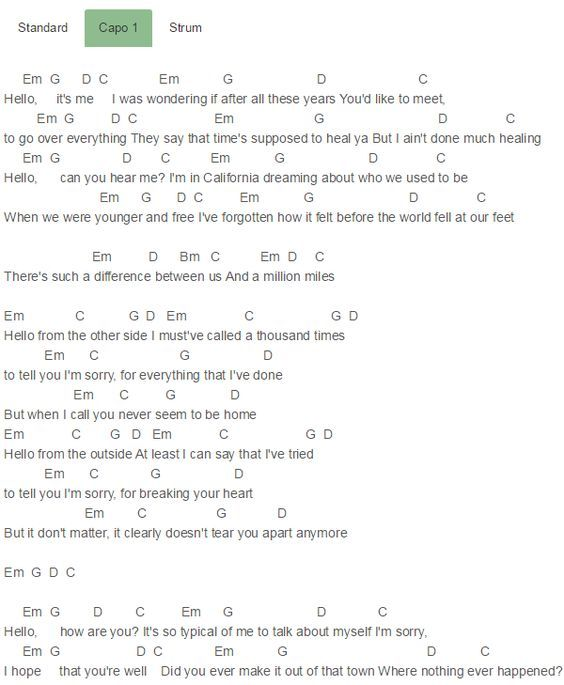 Piano piano chords adele hello : 1000+ images about music <3 on Pinterest