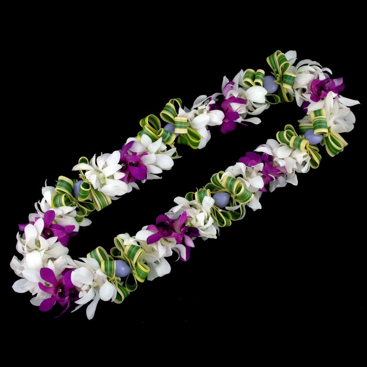 This dendrobium orchid lei would have no fragrance white and purple this dendrobium orchid lei would have no fragrance white and purple can be made izmirmasajfo