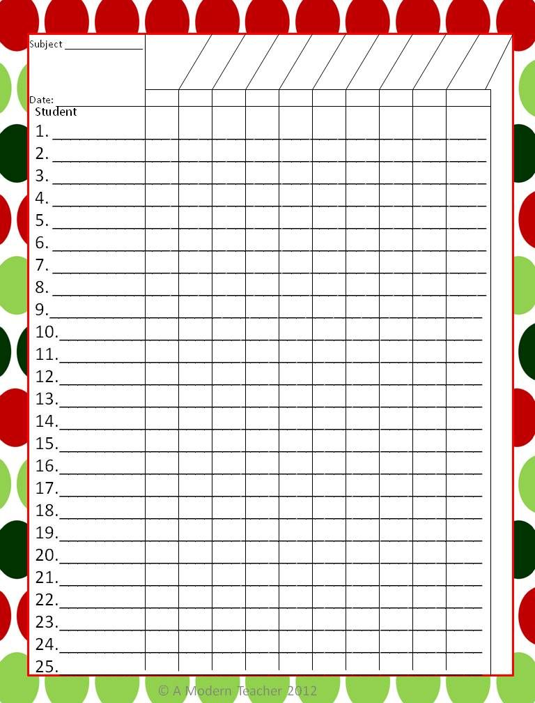 Donu0027t leave! Iu0027d love for you to stay December, School and - attendance chart template