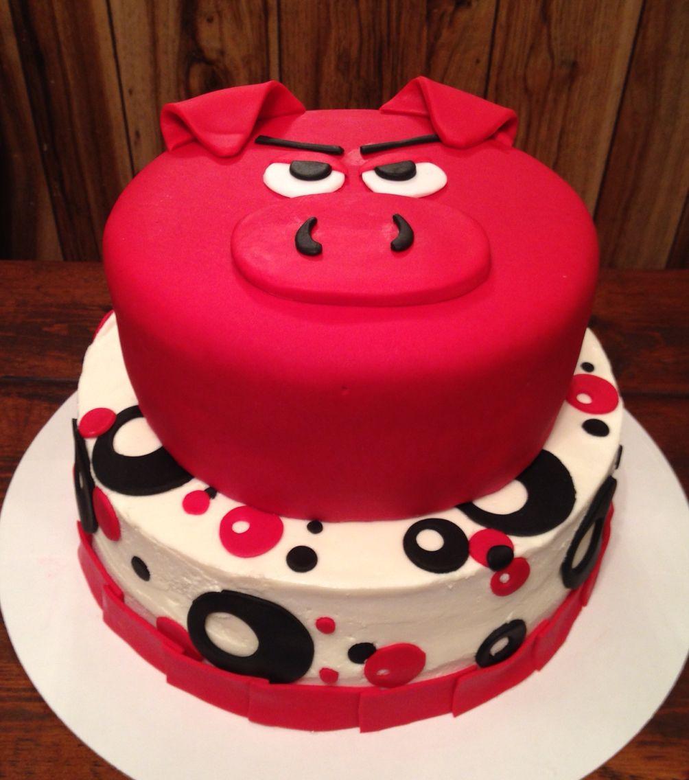 Razorback Birthday Cake made by Suga Mama Sweets Cakes Cupcakes
