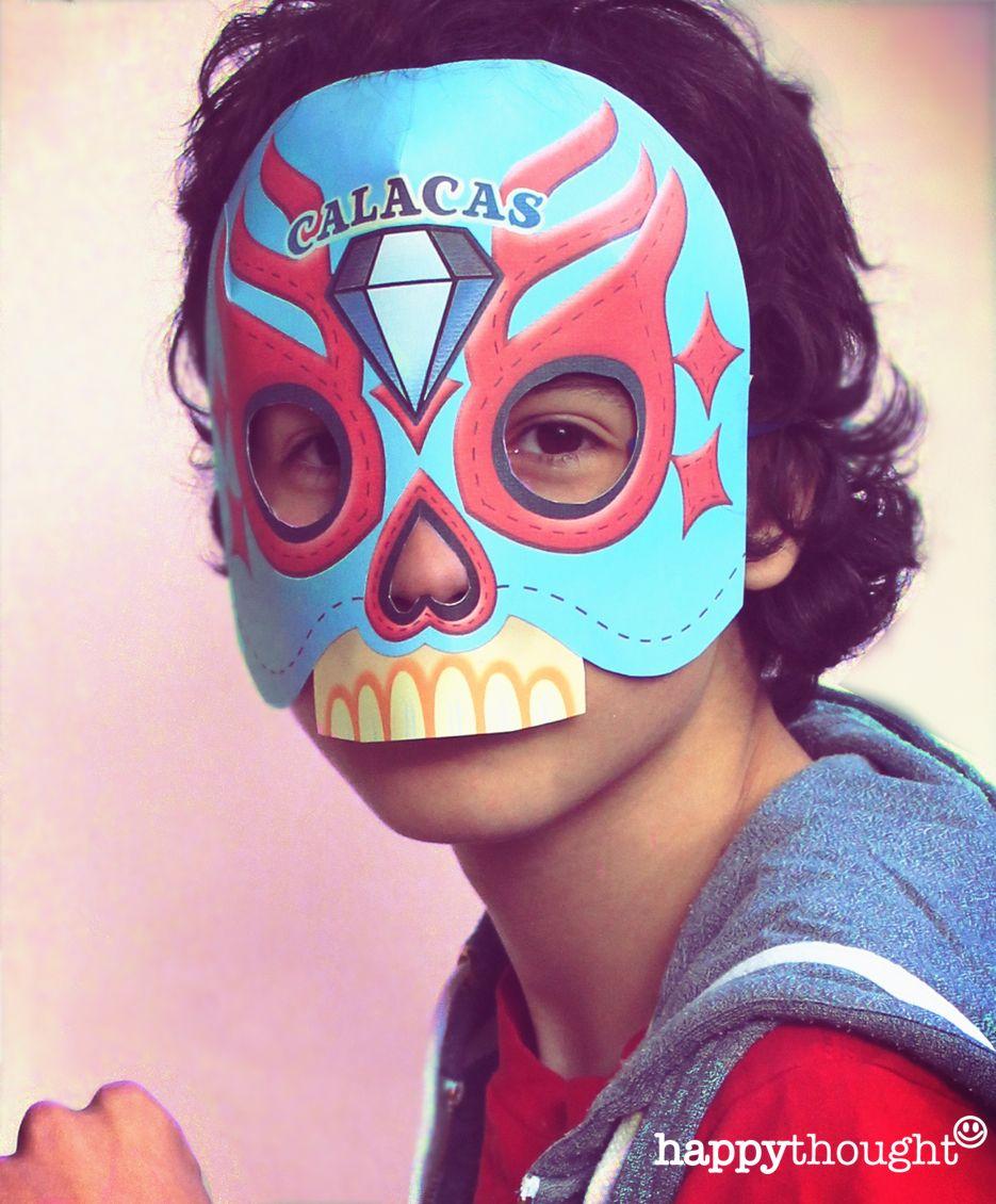 Printable Calavera Skull Mask Set Skull Mask Mask Template And Dia De