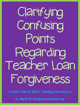 Clarifying Confusing Points Regarding Teacher Loan Forgiveness