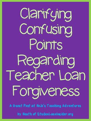 Clarifying Confusing Points Regarding Teacher Loan Forgiveness
