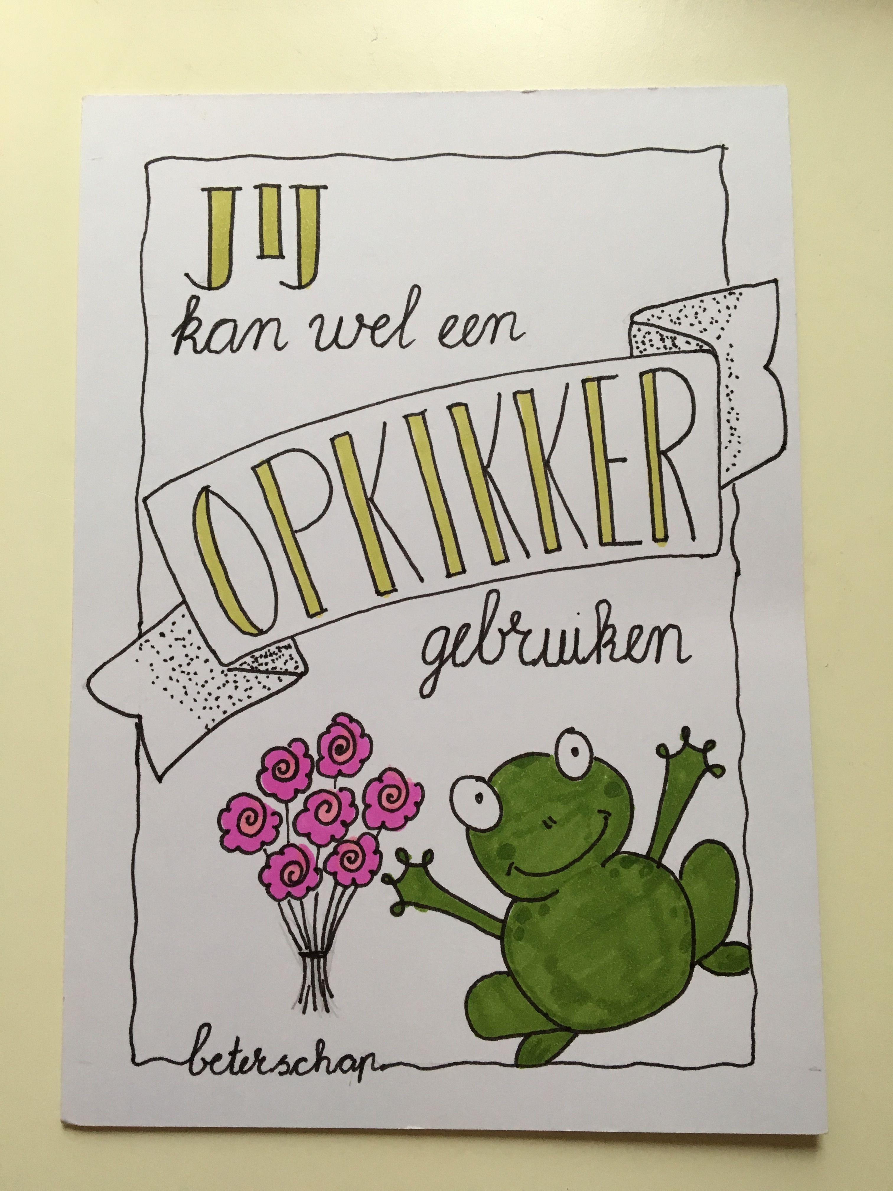 Handlettering Kaart Beterschap Opkikker Kaarten Maken Handletteren Zelf Kaarten Maken Verjaardag Kaarten