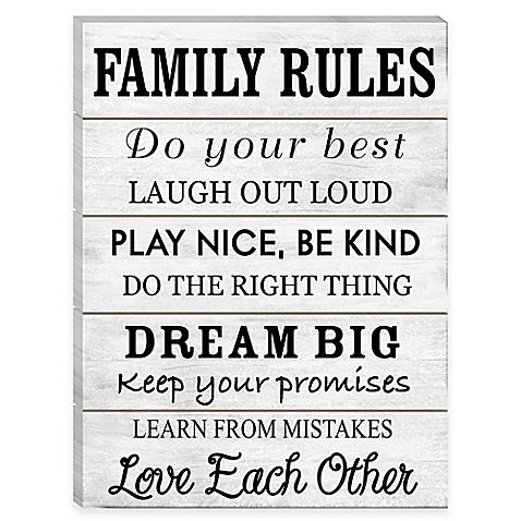 Amazing Hang Your Family Values With The Family Rules Wall Art. The Wood Palette  With Black