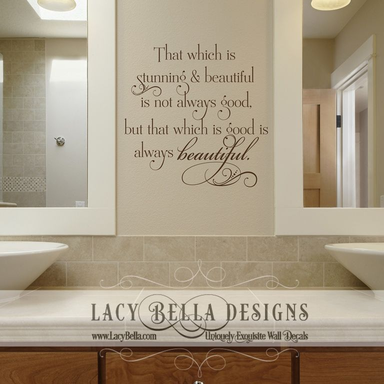bathroom wall quotes writing
