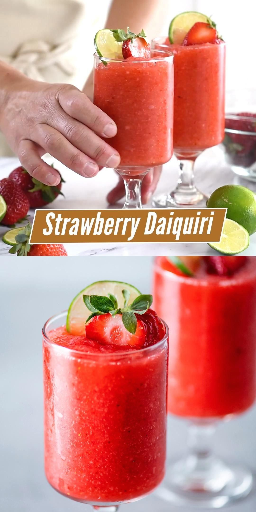 Frozen Strawberry Daiquiri Recipe 1002 Frozen Cocktail Recipes Frozen Strawberry Daiquiri Recipe Daiquiri Recipe