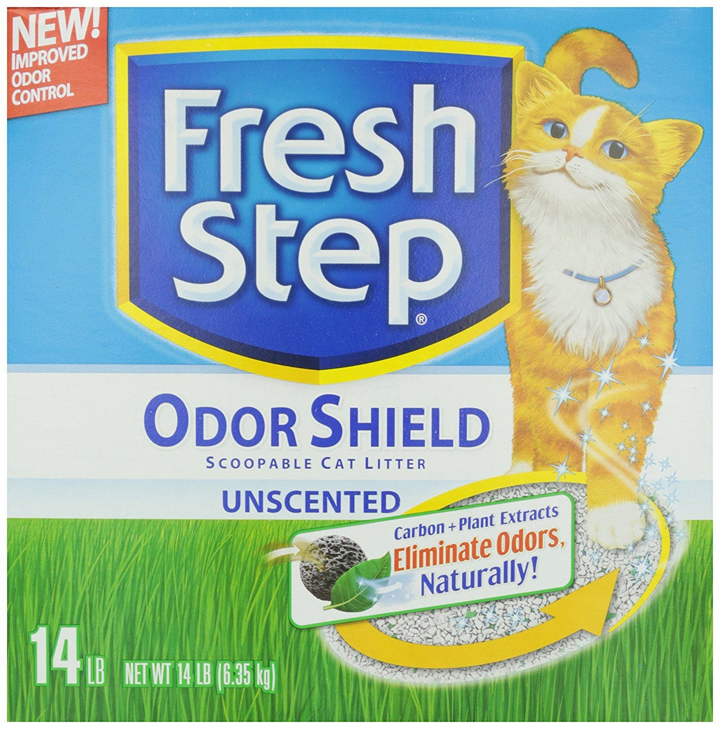 Fresh Step Scoopable Cat Litter, Perfume and Dye Free, 14