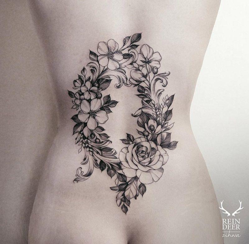 Flower Back Tattoo Ideas: Tiny Flower Tattoos, Girl Back Tattoos