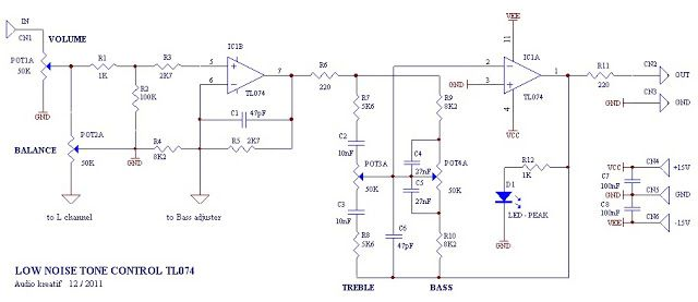 Low Noise Tone Control Circuit | Hubby Project | Circuit